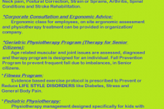 Physio Mantra services